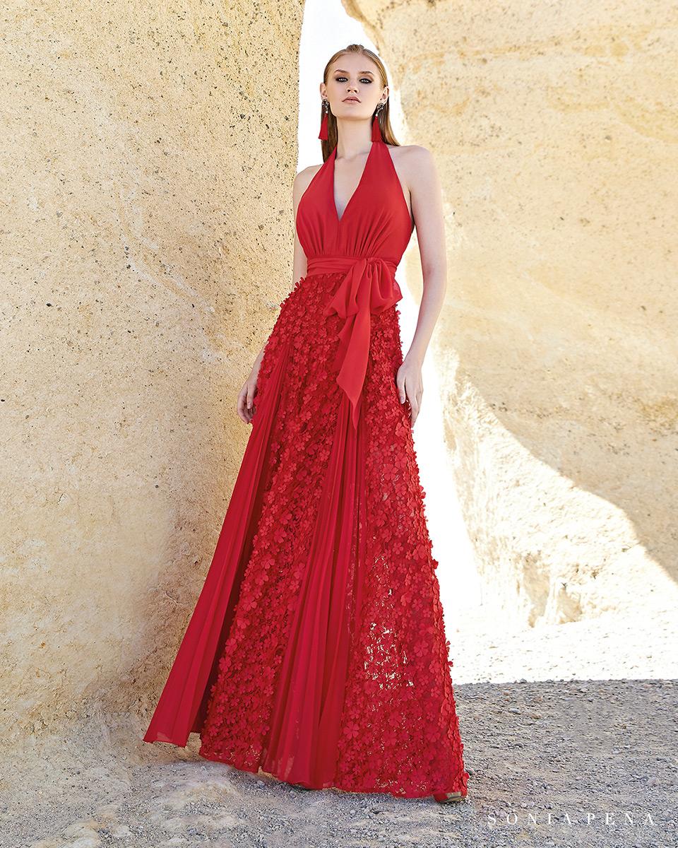 Robe longue, 2020 Collection Printemps Eté Trece Lunas. Sonia Peña - Ref. 1200138