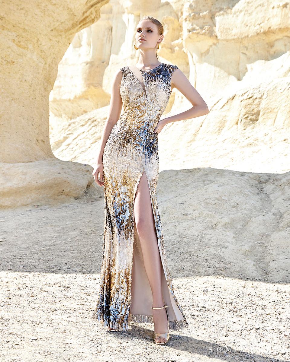 Vestido longo. Colecção Primavera-Verão Trece Lunas 2020. Sonia Peña - Ref. 1200148