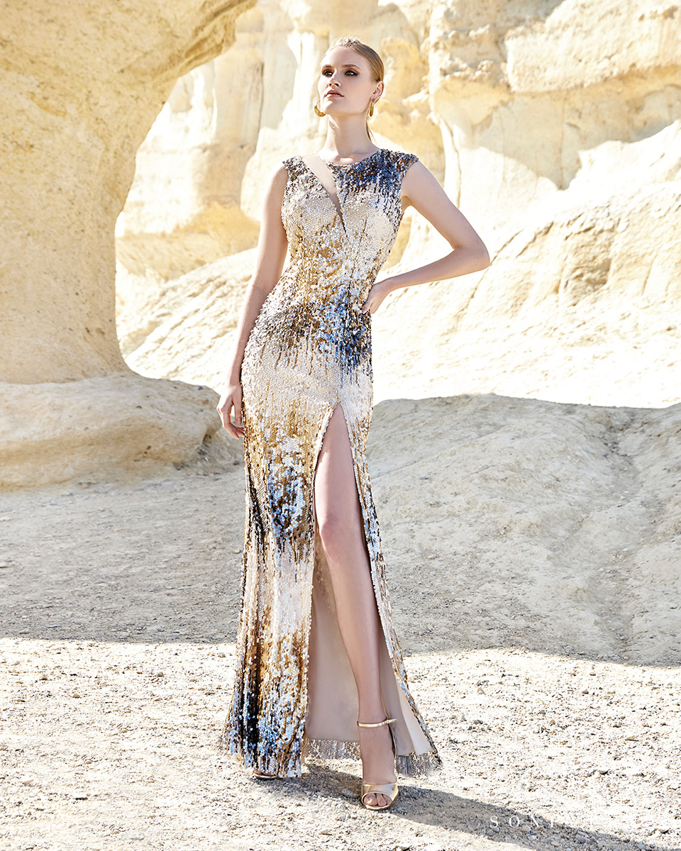 Long dress. Spring-Summer Trece Lunas Collection 2020. Sonia Peña - Ref. 1200148
