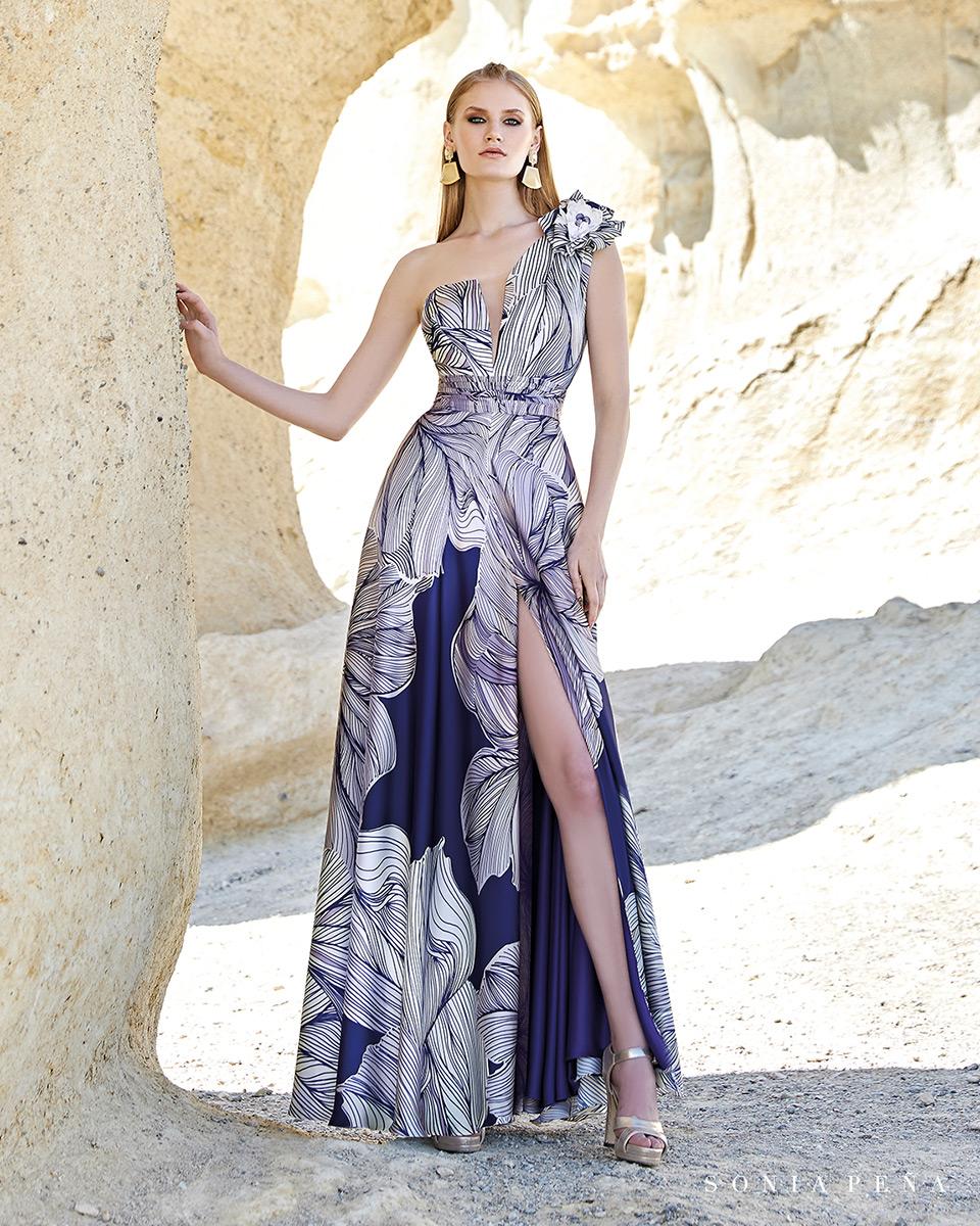 Vestido longo. Colecção Primavera-Verão Trece Lunas 2020. Sonia Peña - Ref. 1200150