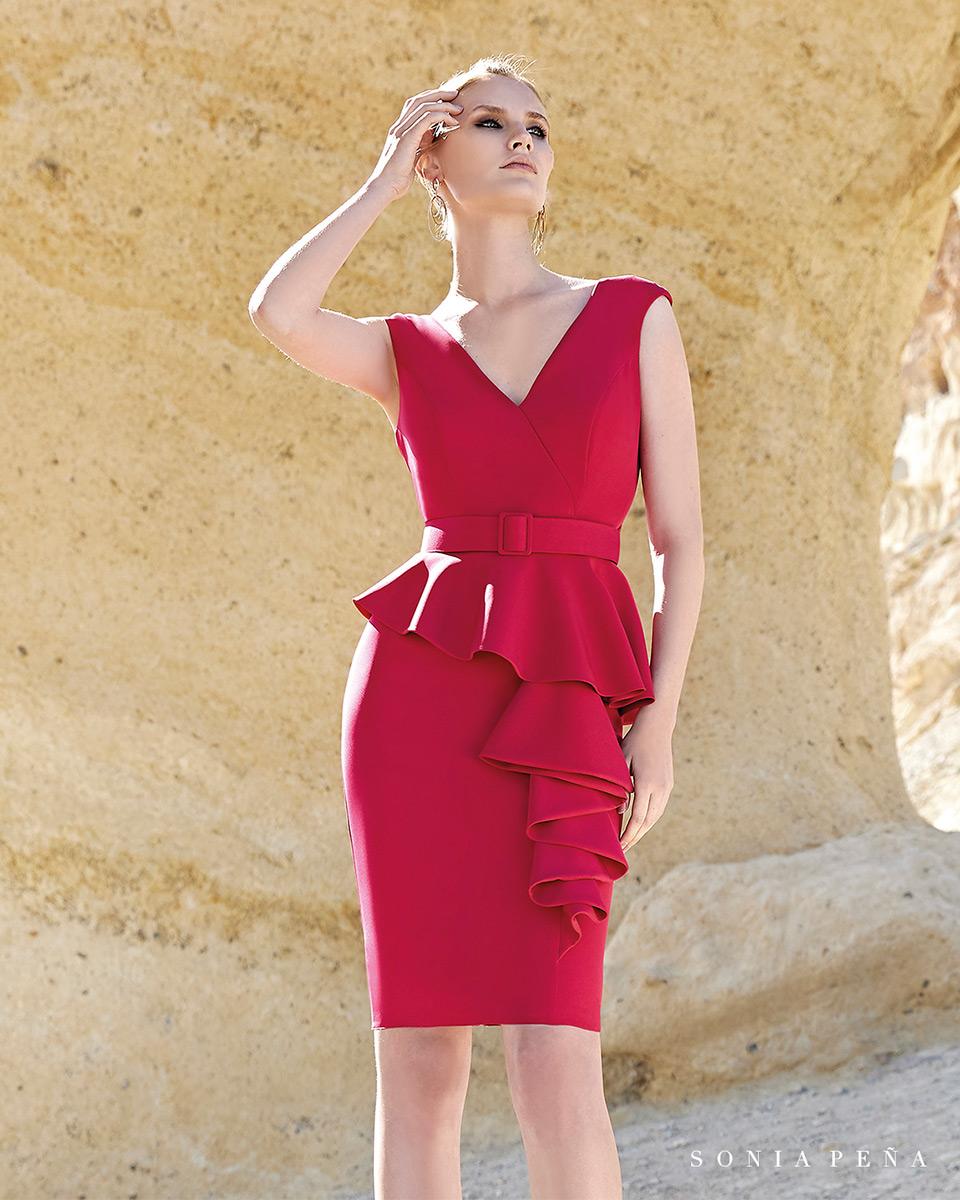 Vestido Corto. Colección Primavera Verano 2020 Trece Lunas. Sonia Peña - Ref. 1200152
