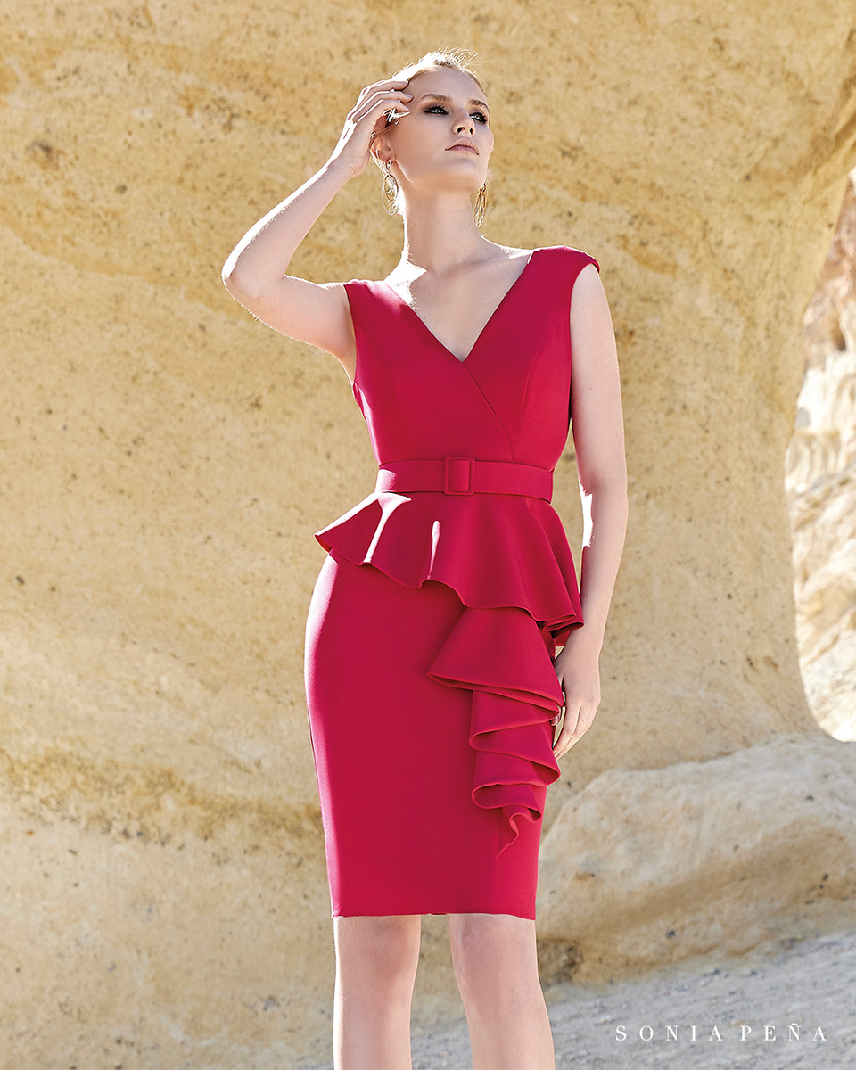 Short dress. Spring-Summer Trece Lunas Collection 2020. Sonia Peña - Ref. 1200152