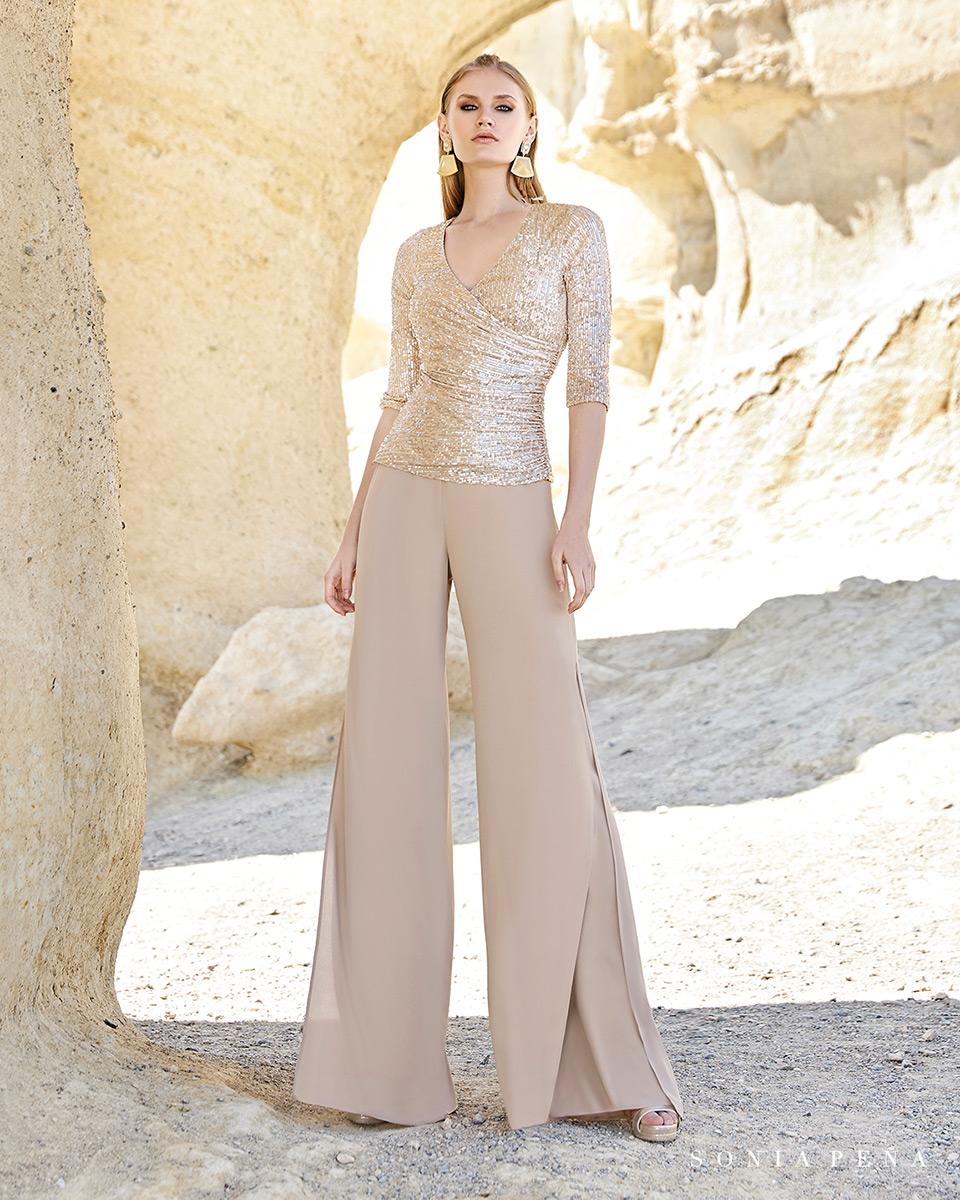 Robes de soirée, robes de Mére de la mariee. Complete 2020 Collection Printemps Eté Trece Lunas. Sonia Peña - Ref. 1200155Ref. 1200063