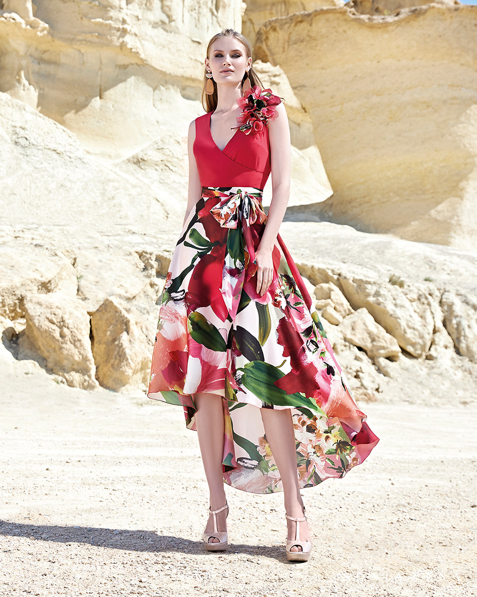 Short dress. Spring-Summer Trece Lunas Collection 2020. Sonia Peña - Ref. 1200157