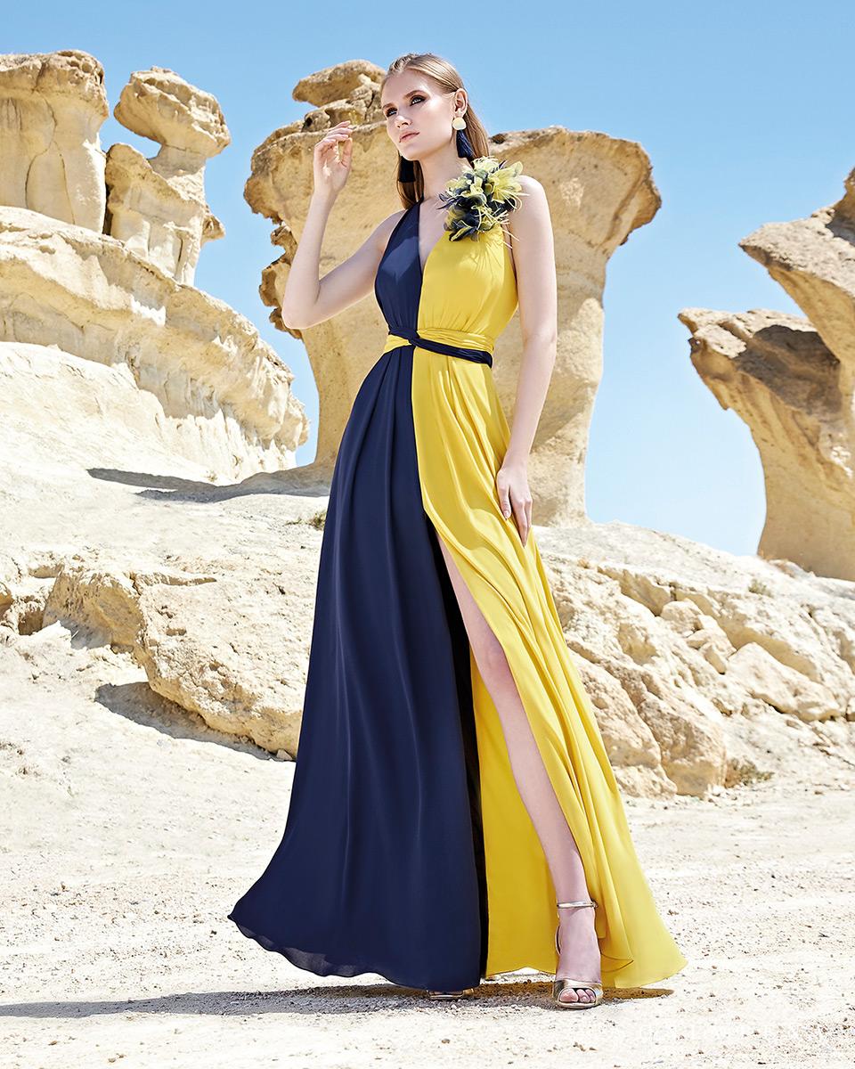 Vestido longo. Colecção Primavera-Verão Trece Lunas 2020. Sonia Peña - Ref. 1200163