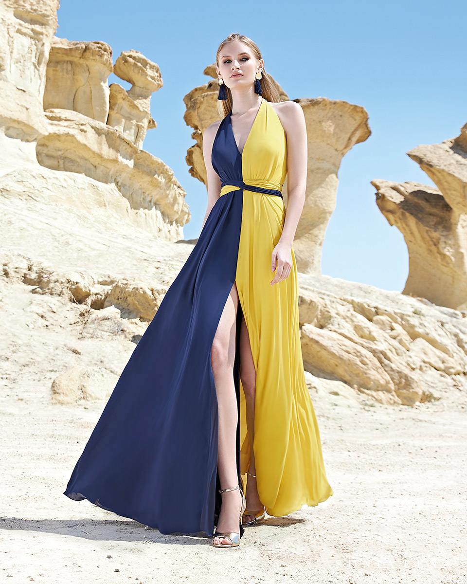 Robe longue, 2020 Collection Printemps Eté Trece Lunas. Sonia Peña - Ref. 1200163