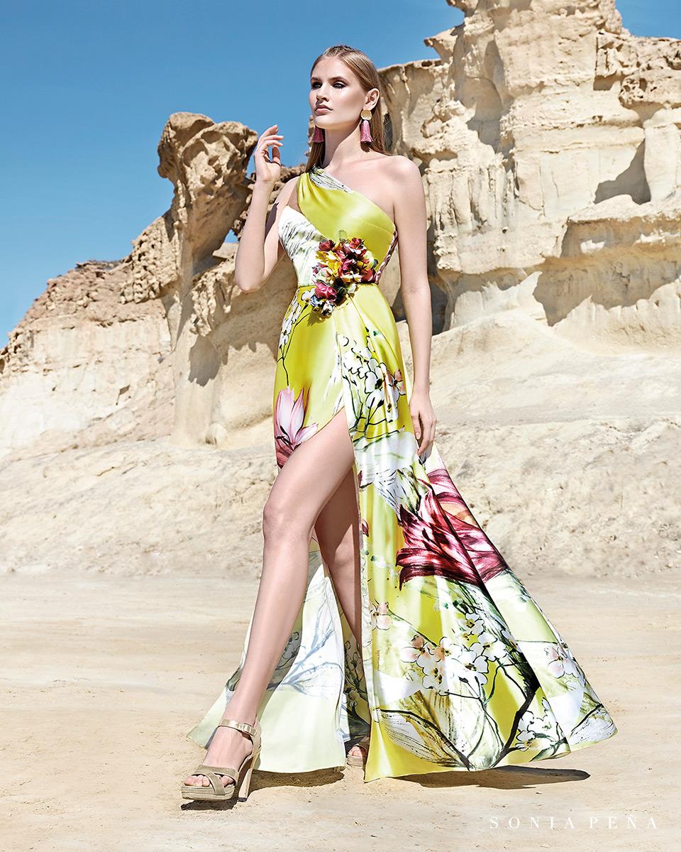 Vestido longo. Colecção Primavera-Verão Trece Lunas 2020. Sonia Peña - Ref. 1200164